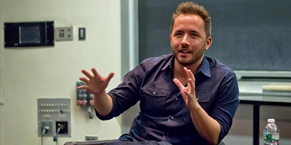 Drew Houston talking at MIT Event - Photo by MIT