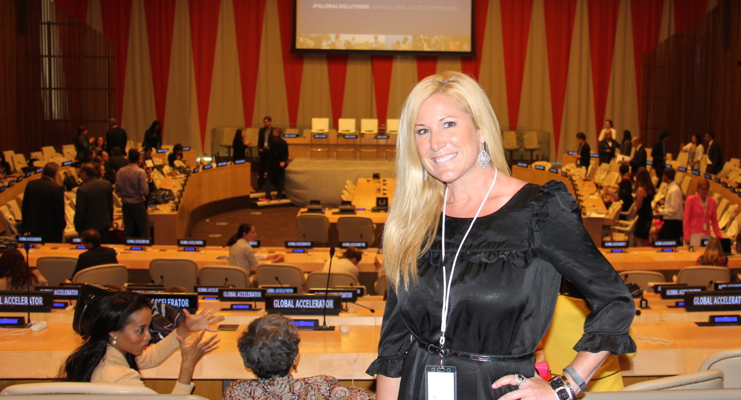 Jen Groover at the UN Foundations Global Accelerator event